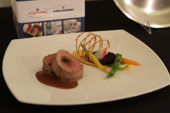 Daniela Molettieri's winning dish: Filet of veal stuffed with wild mushrooms.