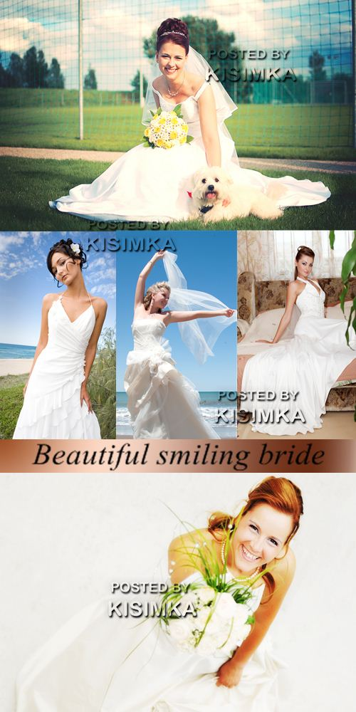 Stock Photo: Beautiful smiling bride