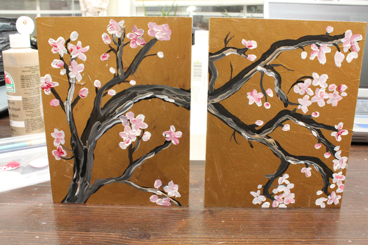365 days to simplicity japanese cherry blossom wall art. Black Bedroom Furniture Sets. Home Design Ideas