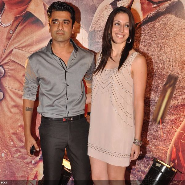 Eijaz Khan with lady love Natalie at the premiere of the movie 'Zila Ghaziabad', held at PVR Cinema in Mumbai, on February 21, 2013. (Pic: Viral Bhayani)