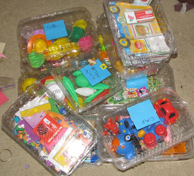 Upcycle Plastic vegetable containers