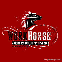 WorkHorse Recruiting logo design Dallas, Texas