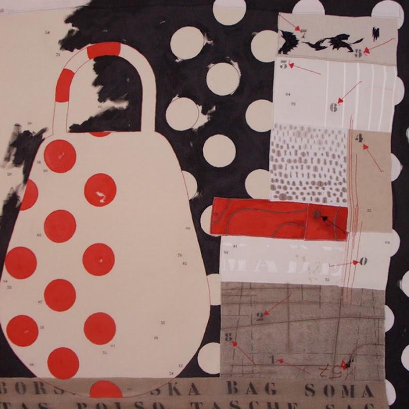 taller de costura 3,pintura mixta de Pérez Vicente