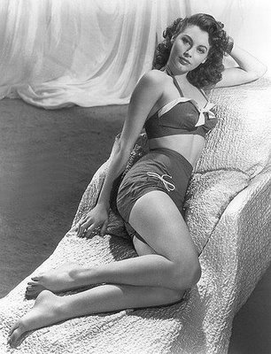 a1699dc444 ... most flattering two-piece bathing suit is one cut much like the suit  Esther is wearing above. It's also the shape of these lovely suits modeled  by Ava ...