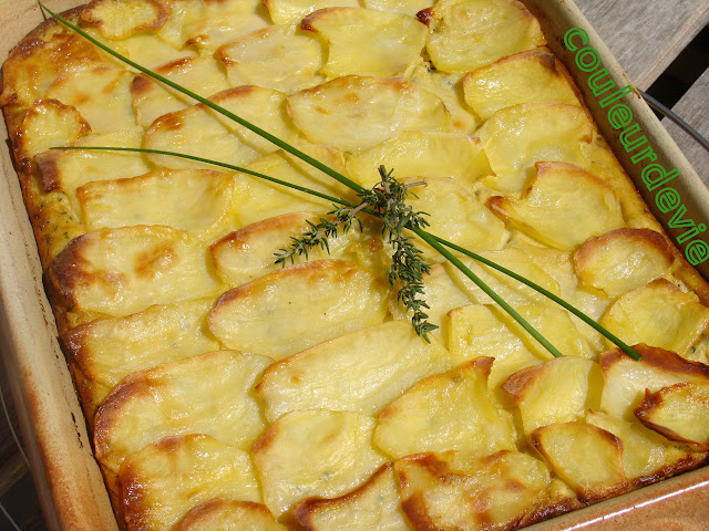 gratin fondant courgettes ricotta aux pommes de terre couleurdevie. Black Bedroom Furniture Sets. Home Design Ideas