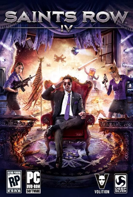 Cover Of Saints Row IV (2013) Full Latest Version PC Game Free Download Resumable Links at Alldownloads4u.Com