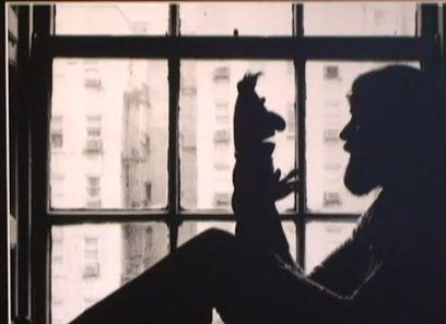 Jim Henson con Blas, uno de sus personajes más famosos