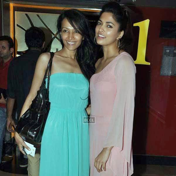 Dipannita Sharma and Parvathy Omanakuttan at the premiere of Bollywood movie Pizza, held at PVR in Mumbai, on July 17, 2014.(Pic: Viral Bhayani)