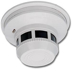 Smoke detector side hidden camera