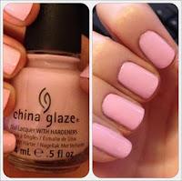 China glaze pastel pink nail varnish polish