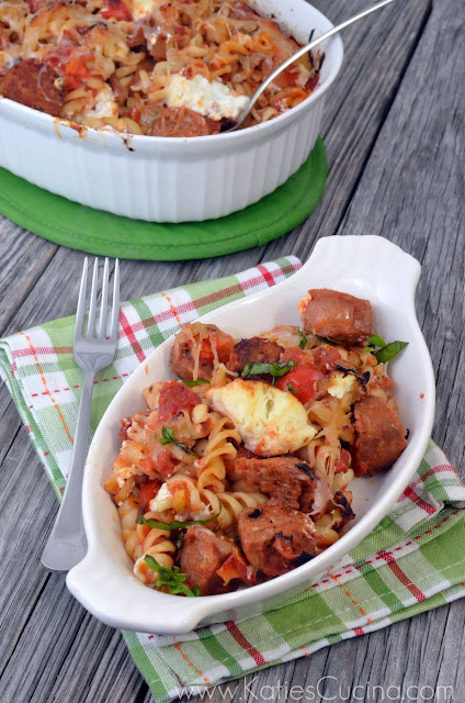 Fire-Roasted Tomato & Spicy Italian Sausage Pasta Bake
