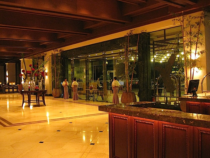 lobby of Sofitel Manila