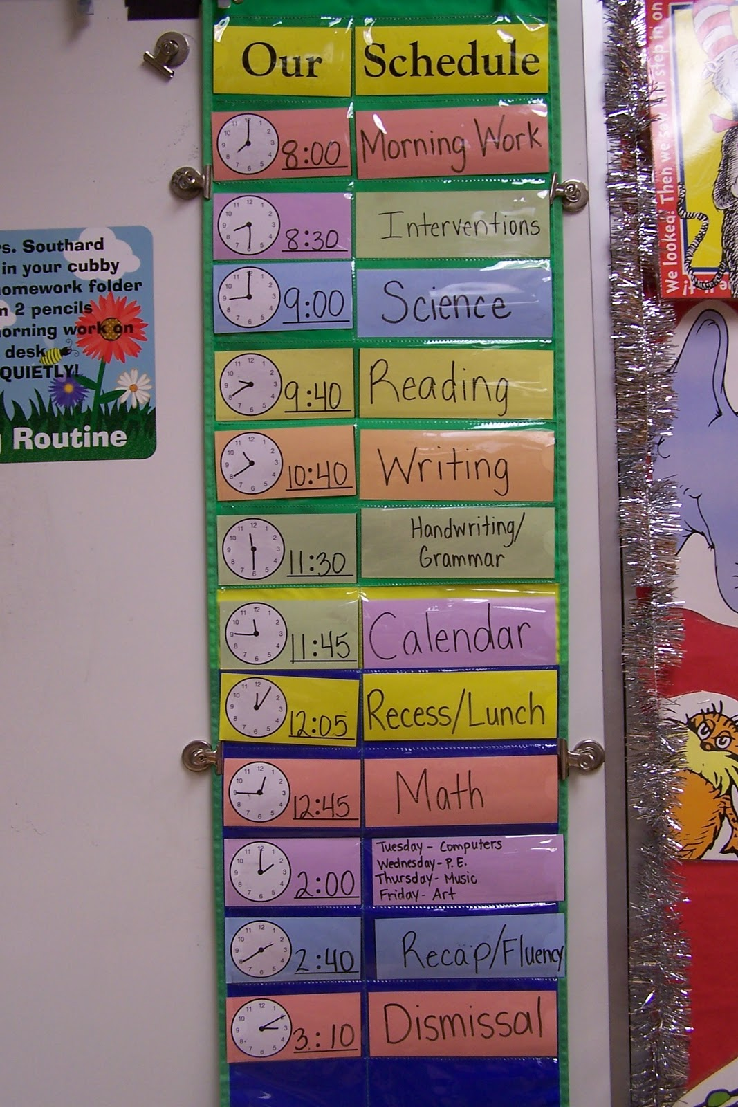 Classroom Schedule Ideas : Daily calendar activities for first grade classroom pics
