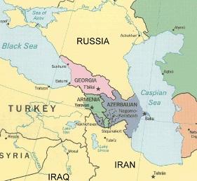 Georgia Russia Border Map