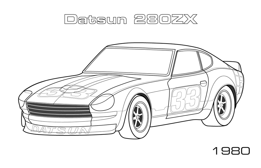 Datsun 280ZX Coloring Page Car