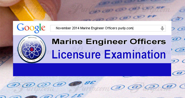 November 2014 Marine Engineer Officers Board Exam Results