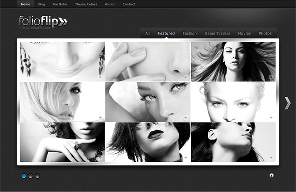 FolioFlip Unusual WordPress Theme for Artists