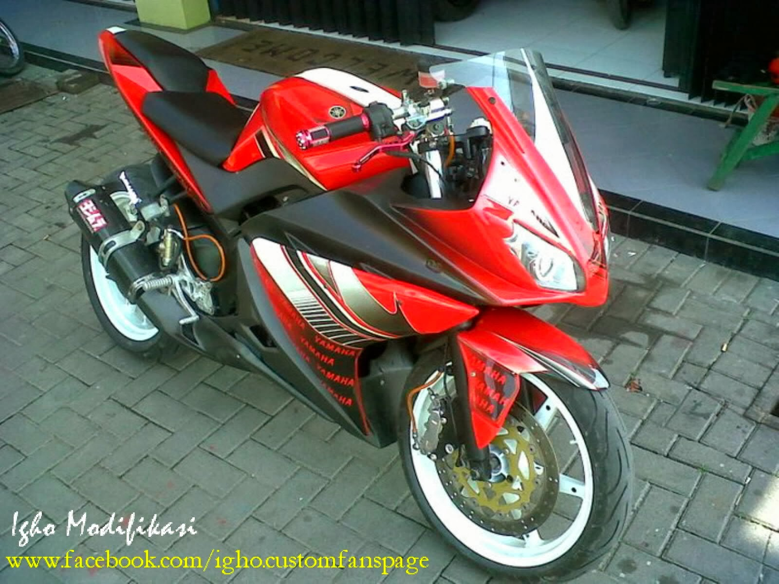 New Vixion Modifikasi Street Fighter Monster
