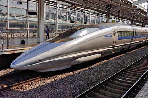 Tầu hỏa Shinkansen 500 series Bullet Train trong thực tế