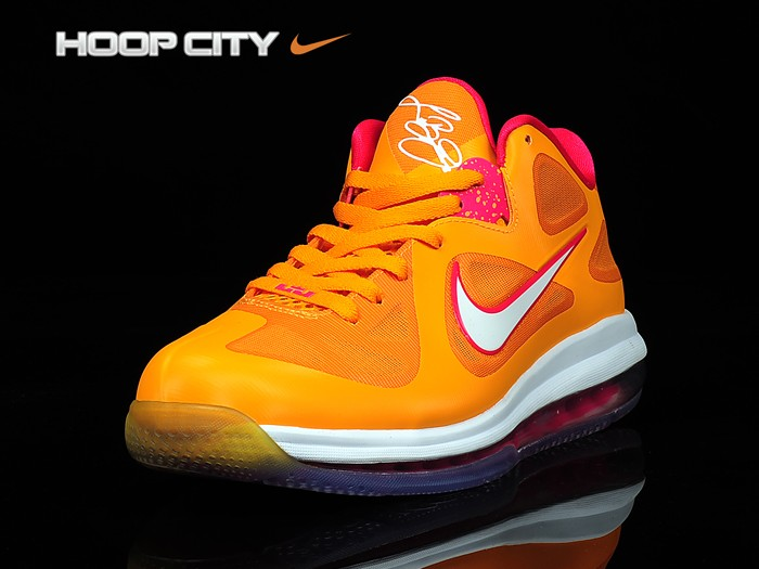 newest collection cc175 692bd Official Nike Zoom Lebron 9 Low 510811 800 Vivid Orange Cherry
