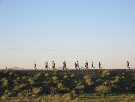 Start of the 2010 Paatuwaqatsi (Water is Life) Run at Hopi