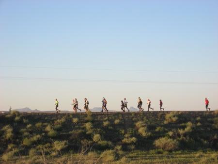 Start of the 2010 Paatuwaqatsi (Water is Life) Run at Hopi