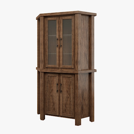Ashton Corner Cabinet in Seely Oak