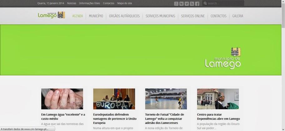 Novo website da Câmara de Lamego com mais conteúdos e funcionalidades