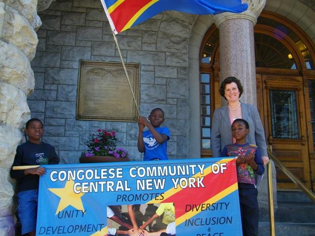 Congolese Flag Raising