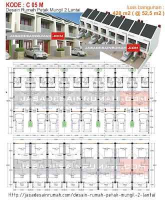 desain rumah petak mungil 2 lantai @ jasa desain rumah
