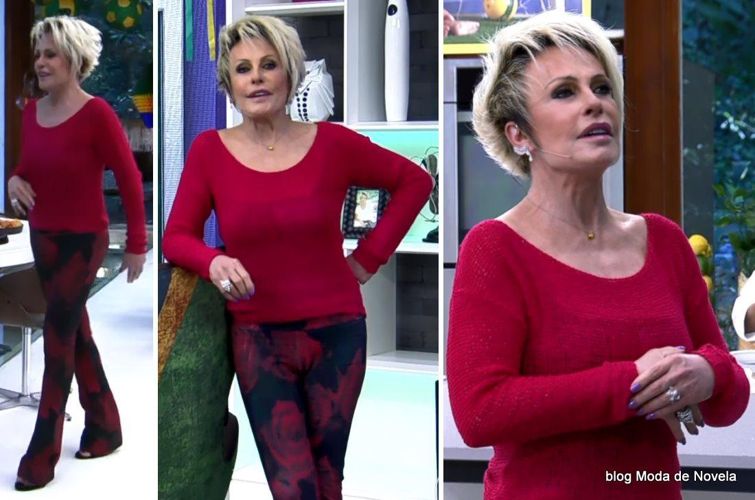 moda do programa Mais Você - look da Ana Maria Braga dia 26 de junho