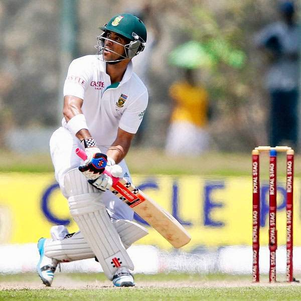 South Africa's Jean-Paul Duminy watches his shot during the second day of their first test cricket match against Sri Lanka in Galle July 17, 2014.