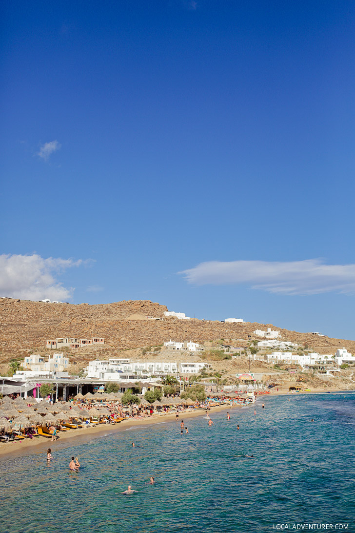 Paradise Beach Mykonos Greece - Best Beach in Mykonos.