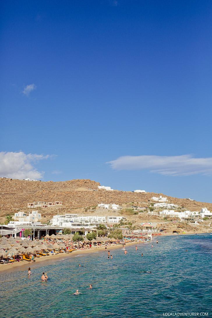 Paradise Beach Mykonos Greece - Best Beach in Mykonos.