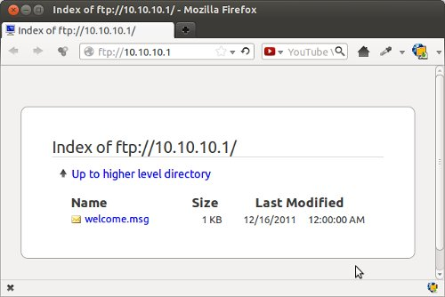 firefox - ftp anonymous