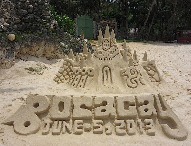 sandcastle in Boracay