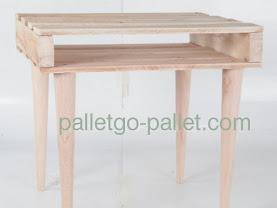pallet gỗ làm bàn chân tròn