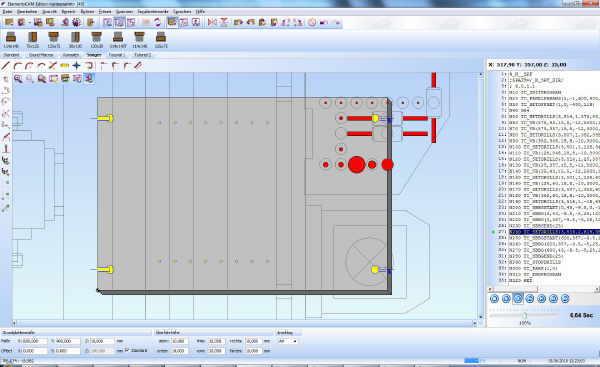 Woodwop dxf Schnittstelle in ElementsCAM