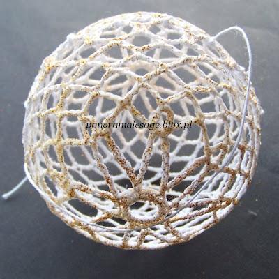 bombki choinkowe szydełkowe Panorama LeSage ozdoby choinkowe brokat błyszczące instrukcja wykonania jak zrobić ozdobę samodzielnie