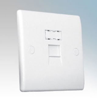 BG Nexus 8RJ451 - 1 Gang RJ45 Telephone Socket, single RJ45 socket