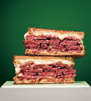Splendid Sass: GRILLED CORNED BEEF AND FONTINA SANDWICHES