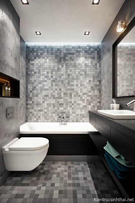 Phòng vệ sinh căn hộ hiện đại