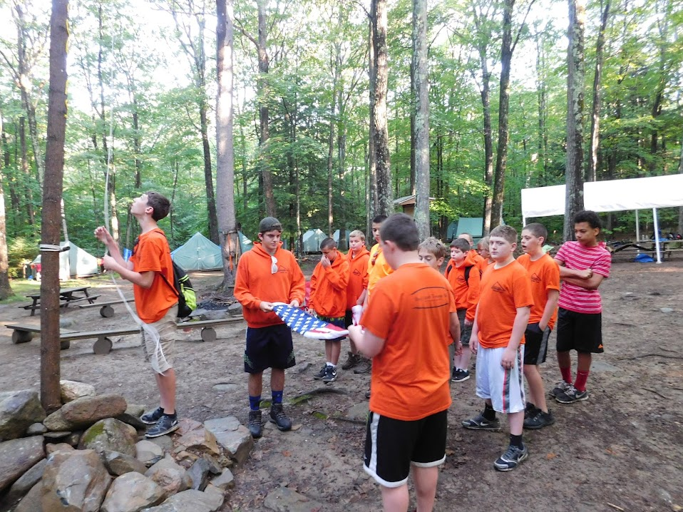 A Morning Flag Raise at Camp Wonocksett