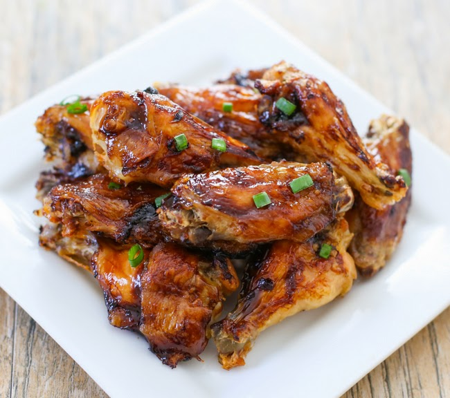 photo of Coca Cola Bourbon Chicken Wings piled on a plate