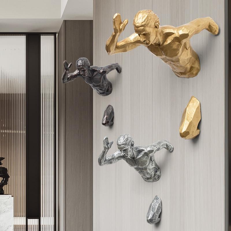 19.A 3D Wall Sculpture Wall Decor Ideas