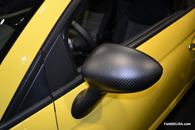 Fiat 500 carbon Fiber Mirror Caps