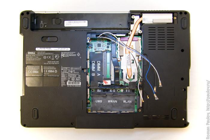 Как разобрать ноутбук Dell Inspiron 1525 10