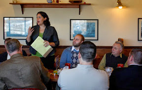 OSM/VISTA Miranda Shoemaker meets with local political leaders in Kittaning, PA during the Armstrong County Conservation District's Legislative Breakfast