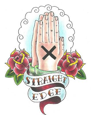 Straight Edge графика - сложенные в молитве руки