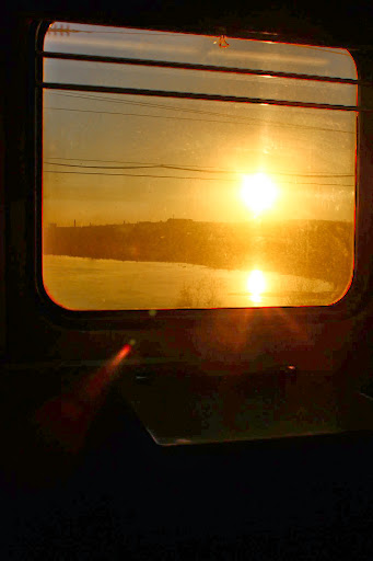 Sunset Trans Siberian Irkutsk to Moscow